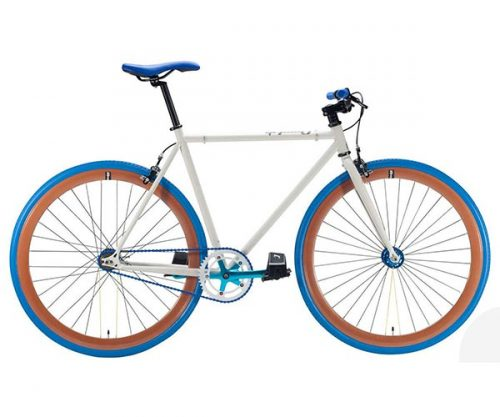 Cheetah fixed gear 3.0 wit blauw 54 cm