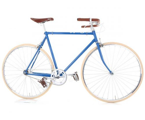 Cheetah fixed gear cafe racer blauw creme 59 cm