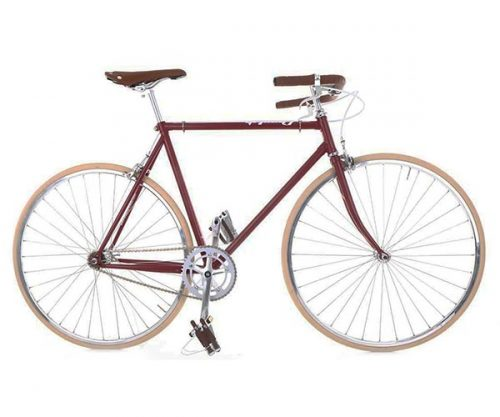 Cheetah fixed gear cafe racer cherry rood 59 cm