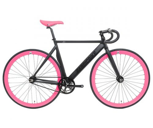 Fixedgear.nl FB fixed gear Air Plus matzwart fuchsia 52 cm