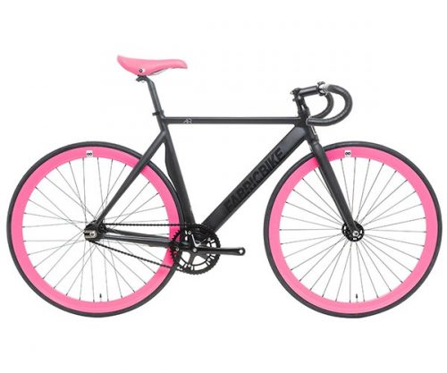 Fixedgear.nl FB fixed gear Air Plus matzwart fuchsia 58 cm