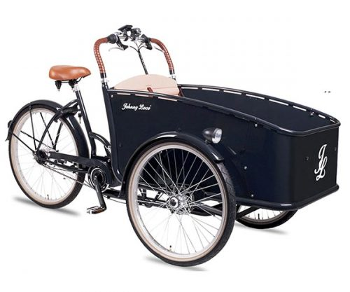 Johnny Loco e-bakfiets Dutch Delight N7 RB zwart 53 cm