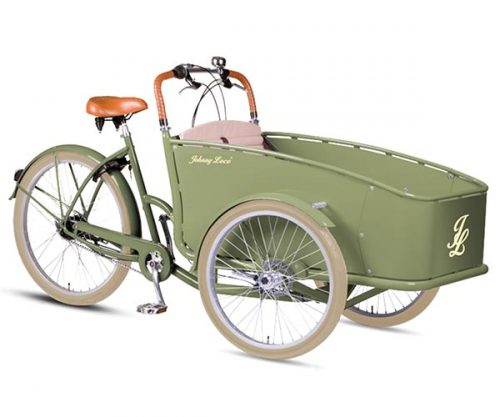 Johnny Loco bakfiets Cargo Lima N7 RB groen 53 cm